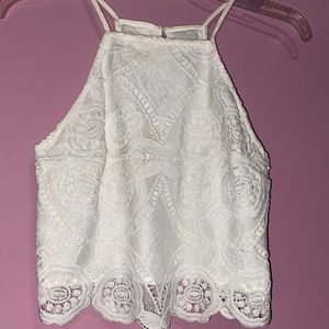 Abercrombie White Lace Halter Top